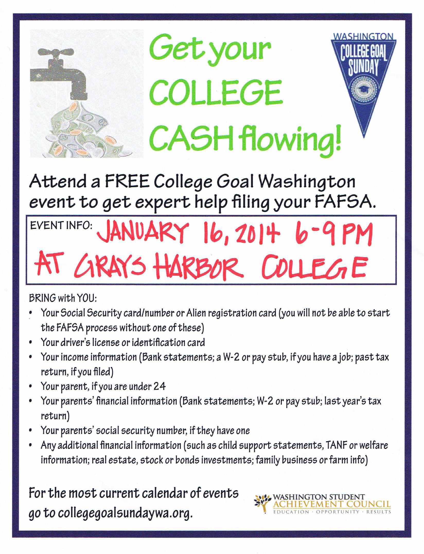 Grays Harbor College to hold free FAFSA event | KXRO News Radio